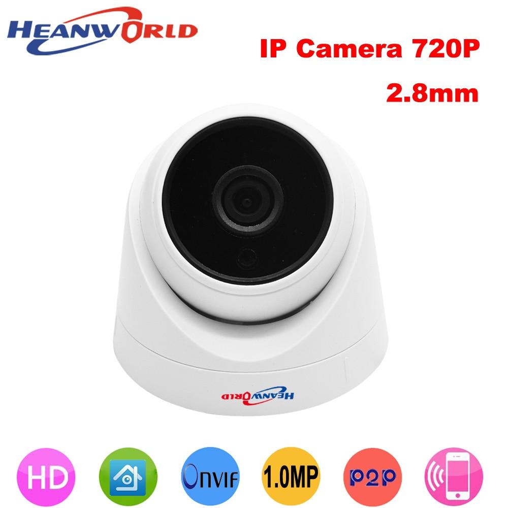 Heanworld 720 p ip caméra dôme 2.8mm grand angle cctv caméra 1.0mp hd surveillance ip cam système de sécurité caméra dôme nuit vision