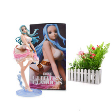 One Piece Figure Nefeltari Vivi Miss Wednesday PVC Action Collectible Model Christmas Gift Toys 25 cm