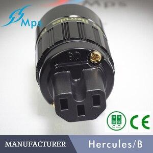 Image 3 - HiFi MPS Hercules W HiFi cavo di alimentazione C13 Spine Connettore 24K Placcato oro connettore femmina di Alimentazione Amplificatore 15A spina