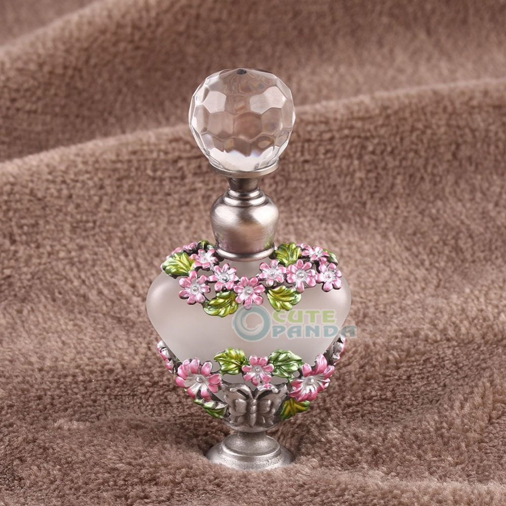 5ml Vintage Manual Painting Crystal Butterfly Perfume Bottle Refillable Gift