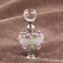 Botella de Perfume de mariposa de cristal con pintura Manual Vintage de 5 ml, regalo rellenable