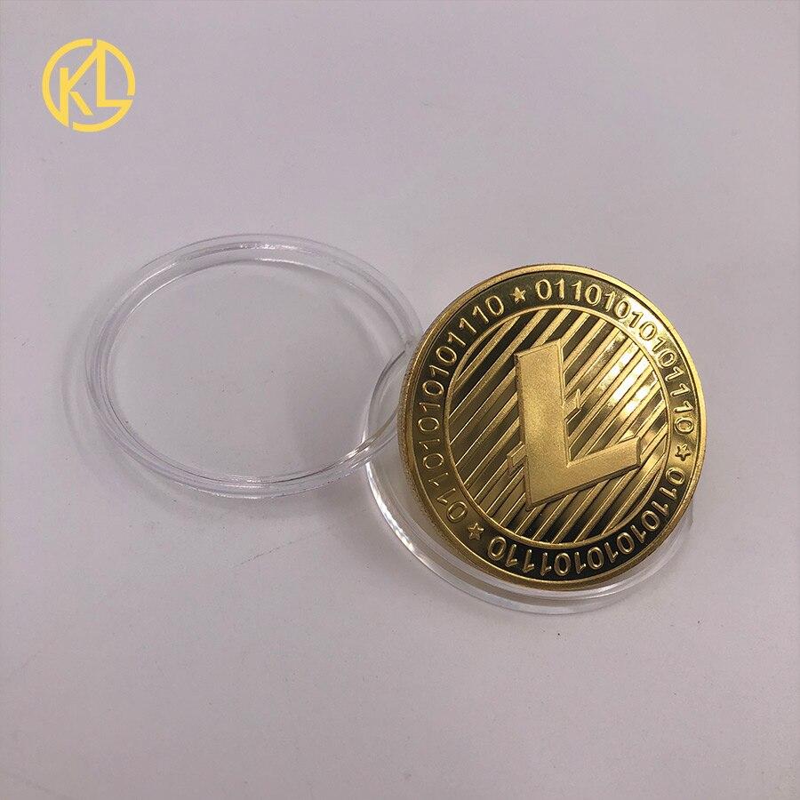 CO017 1 шт. не монеты иностранных валют Dash эфириум Litecoin пульсация Биткойн XMR Monero монета 8 видов памятных монет Прямая - Цвет: CO-016-1