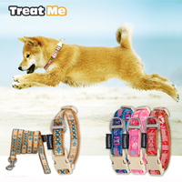Điều trị Tôi, Thời Trang Dog Collars Dẫn, Chó Dây Xích Bộ, Nylon Điều Chỉnh các Cổ Vật Nuôi Dây Đeo Đối Với Small Medium Chó và Mèo, Nhiều Màu Sắc