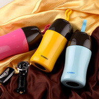 TEAHOO 300ml Cute Candy Color Vacuum Flasks Portable Belly Cup Stainless Steel Water Bottle Cute Thermoses
