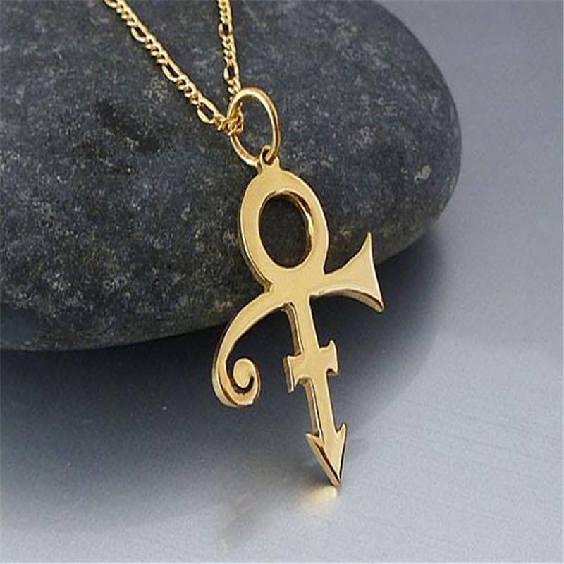 2017 Hot Sale Jewelry Prince Symbol Necklace Gold And Silver Plated