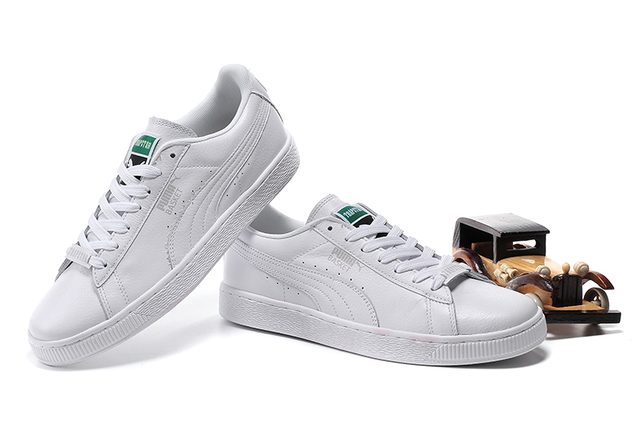 5db12b855cd233 2018free shipping Puma shoes men reproduction of the classic leather  material