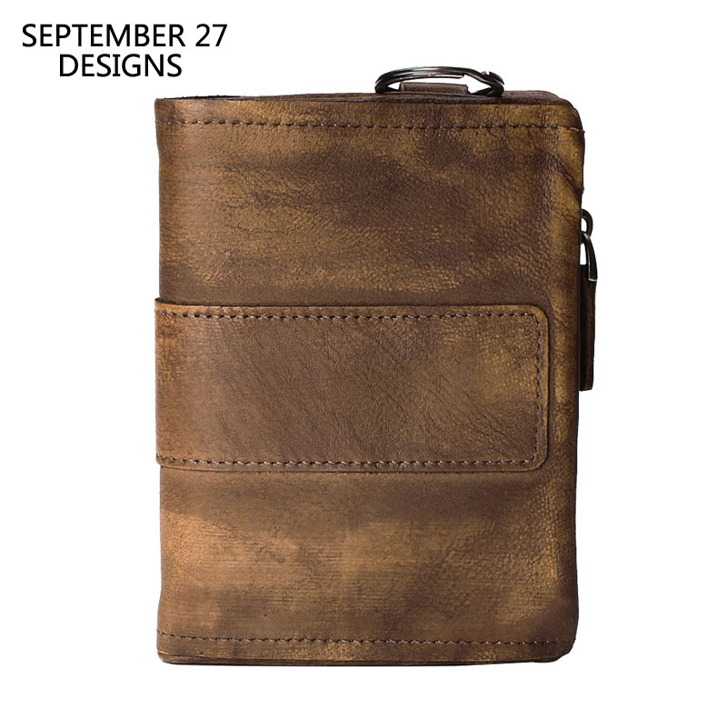 Men Wallets Vegetable Tanned Cowhide Leather Luxury Handmade Male Bifold Clutch Wallet Cowhide Vintage Men s