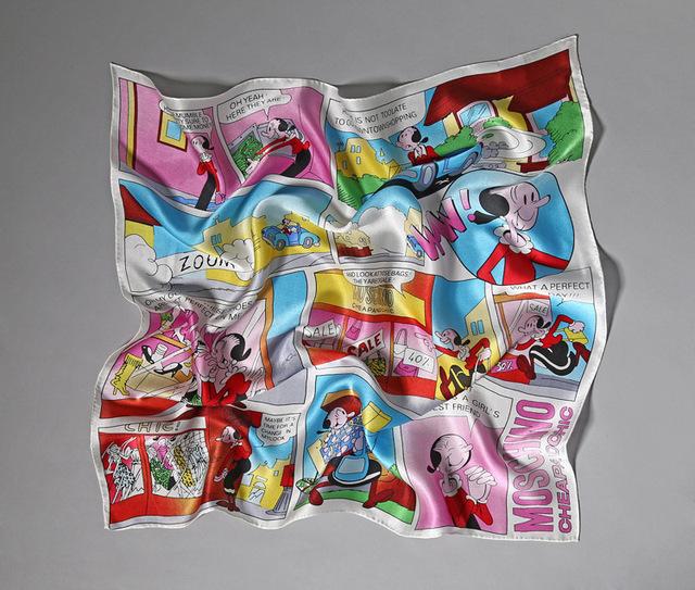 Nueva Llegada de la alta calidad diseño independiente patrón de dibujos animados 100% pañuelo de seda bufandas de Pashmina de la Mujer SS157301
