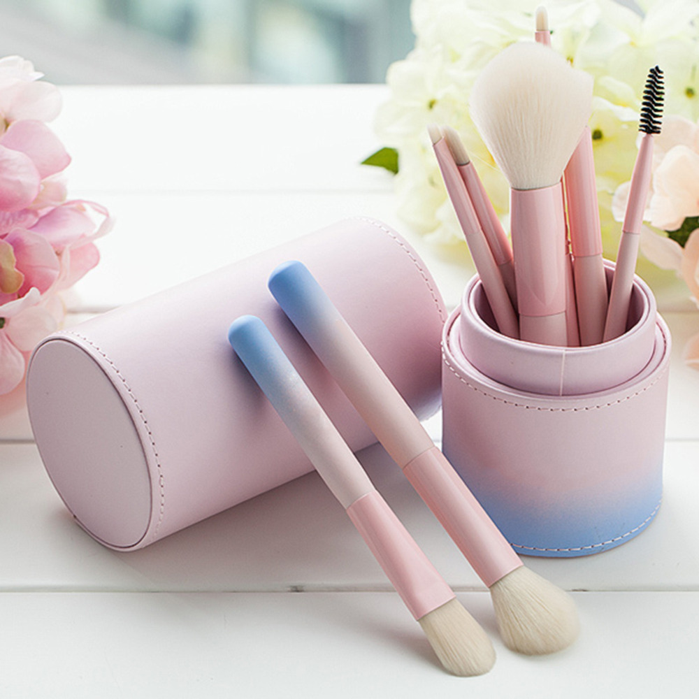 8 Pieces of Fiber Makeup Brush Gradient Color Foundation Face&Eye Powder Pinceaux Cosmetic Makeup Brush maquillage anupam khanna effect of thermal gradient on vibrations of tapered plates