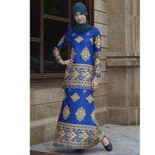 Fashion flower Print two pieces Muslim Sets islamic clothing Womens Tops with Bottoms muslim dress arab womens 9006