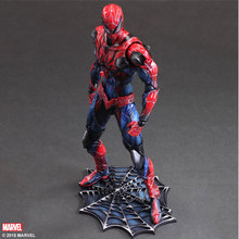 28cm Superhero Spider-Man Action Figure SpiderMan Peter Benjamin Parker Collection Model Toy Play Arts Kai PVC Figure Toys