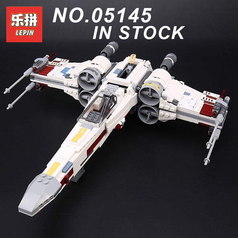 2018 Lepin 05145 STAR WARS Series X-Wing Starfighter Compatible Legoing 75218 Building Educational Toys Model DIY Blocks Bricks 2018 lepin 05150 compatible legoing 75219 wars series imperial at hauler building blocks bricks educational toys gifts