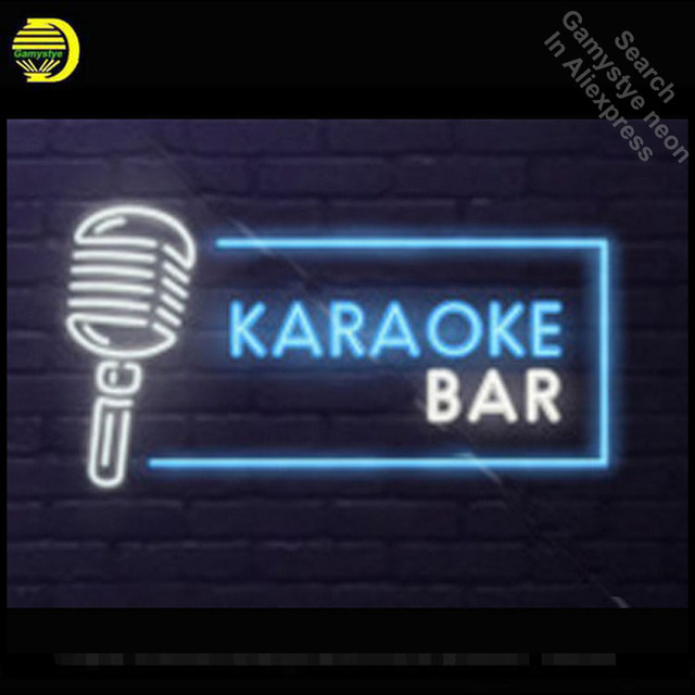 Neon Sign For KARAOKE BAR Real Glass Tubes Lamp neon Windows light custom Handmade neon signs for Music Room vintage neon signs