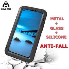 Брендовый чехол Love Mei для Huawei P20 Pro P30 Lite Mate 10 Pro Mate 20 Lite Nova 4 4E 3E металлический бронированный противоударный Прочный чехол для телефона