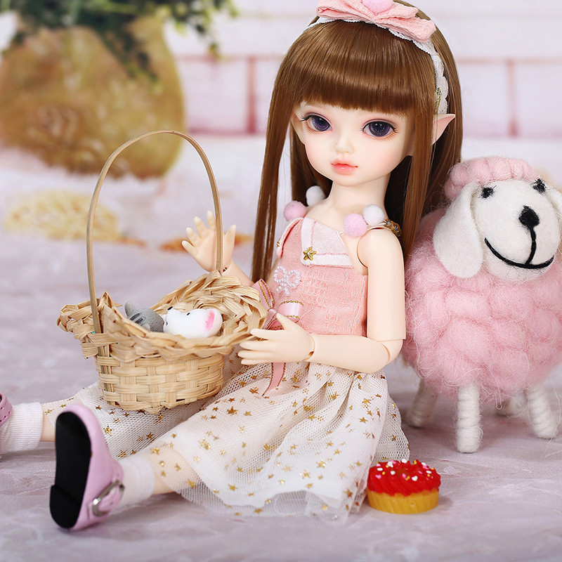 1/6 filles bjd sd poupée femme avec maquillage, globe oculaire, vêtements et poupée perruque poupée commune mignon fée bjd poupées jouet cadeaux pour enfants