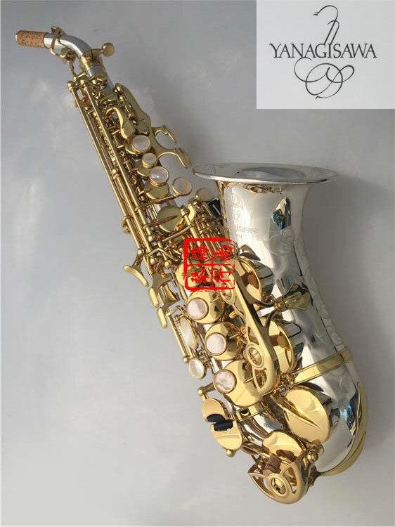 Изогнутые сопрано саксофоны sc 9937 Bb Никель серебро латунь саксофон профессиональный мундштук патчи колодки Reeds изгиб шеи кожи заботится