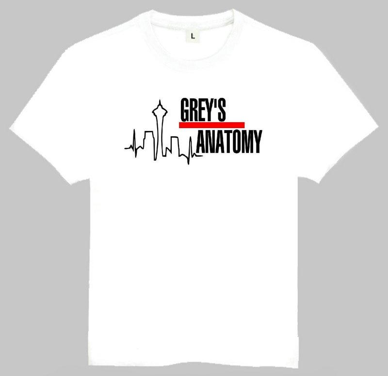 Grey\'s Anatomy T Shirt White Short Sleeve Grey\'s Anatomy Logo Top ...