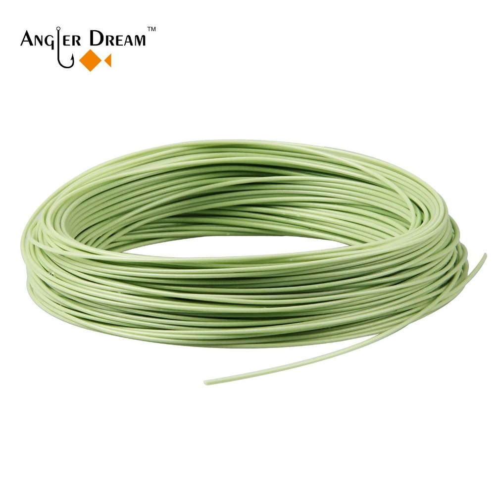 100FT Weight Forward Floating Moss Green Fly Line WF 1/2/3/4/5/6/7/8/9/10F Fly Fishing Line