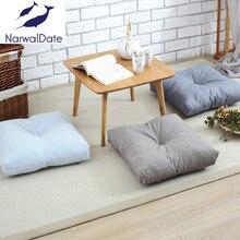 Sólido de lino del algodón cojín cojín de meditación yoga esterilla de meditación tatami cojín cojín de juego