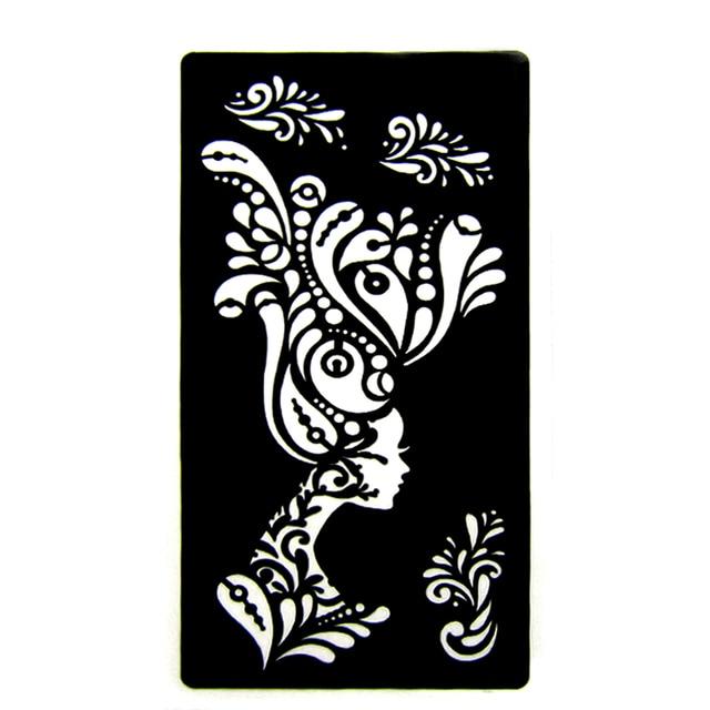 Large Flower Glitter Tattoo Stencil Cute Drawing Templates,Woman ...