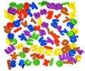 42 unids/set (26 Cartas + 10 Números + 6 animales) letras de espuma pegatinas juguete de los niños animales baño de agua del bebé kis juguetes de Baño 50% de descuento