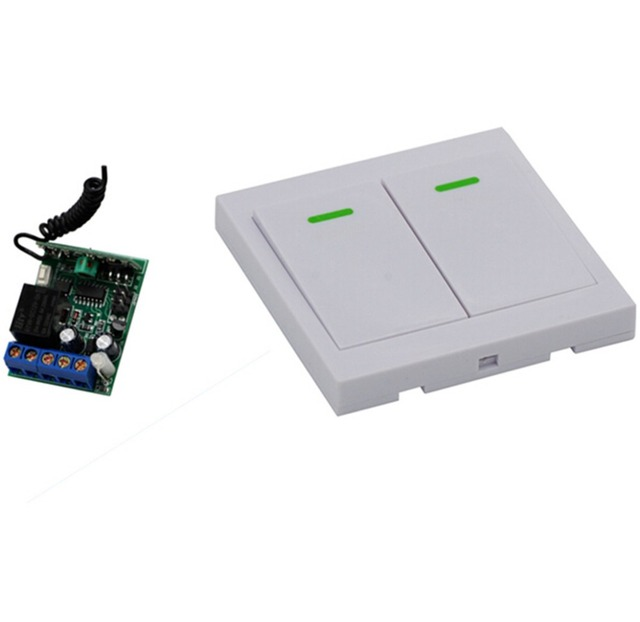 New Product Radio Remote Switch DC12V 1CH Receiver and Wall Panel Sticky Transmitter Wireless Smart Home Switch 315Mhz 433Mhz