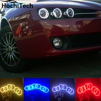For Alfa Rome 159 RGB LED headlight halo angel eyes kit car styling accessories 2004 2011 , 6pcs/set