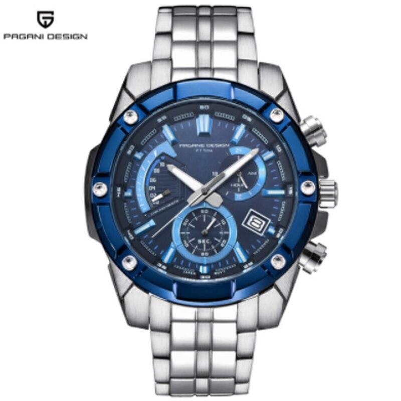 PAGANI conception de luxe de marque nouveau hommes Montres En Acier Plein bracelet à quartz chronographe Hommes étanche sport montre homme