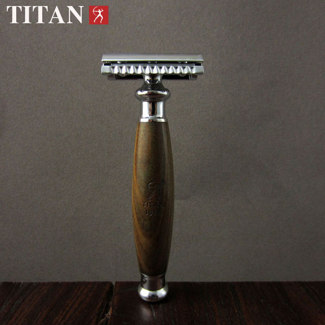 Men Shaving Set Handmade Classic Safety Razor Natural Wood Handle Copper Alloy Blade Holder Double Edges Shaver
