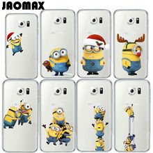 Jaomax Funny Cartoon Despicable Me Yellow Minions Phone Case For Samsung Galaxy S3 S4 S5 S6 S7 EDGE Transparent Soft Silicone