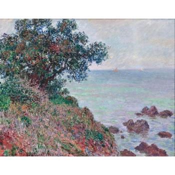 High quality Claude Monet modern art Mediteranian Coast, Grey Day Oil paintings reproduction hand painted