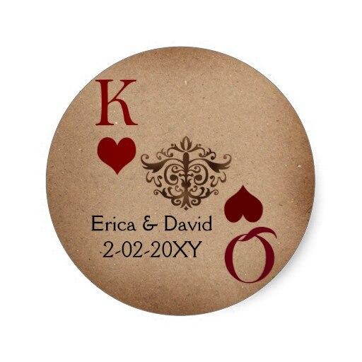 3 8cm vegas wedding envelope seal classic round sticker