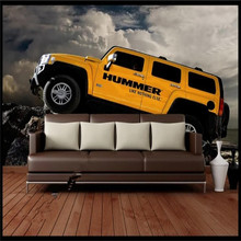 Original 3D car background wall painting professional custom high-end mural factory wholesale wallpaper photo