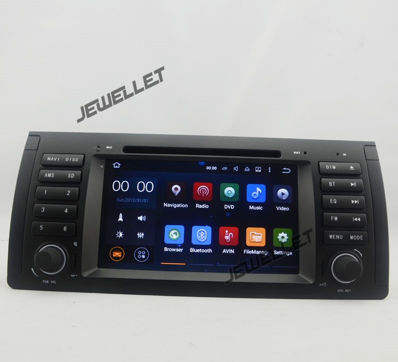 quad core 1024*600 HD screen Android 7.1 Car DVD GPS radio Navigation for BMW 5 Series M5 E39 X5 E53 Land Rover Range Rover