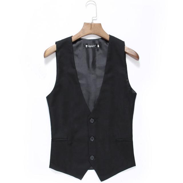2015 novos homens de negócios colete gilet blazer slim fit negócios masculino cor sólida coletes à prova de vestido para homens formais colete terno HY820
