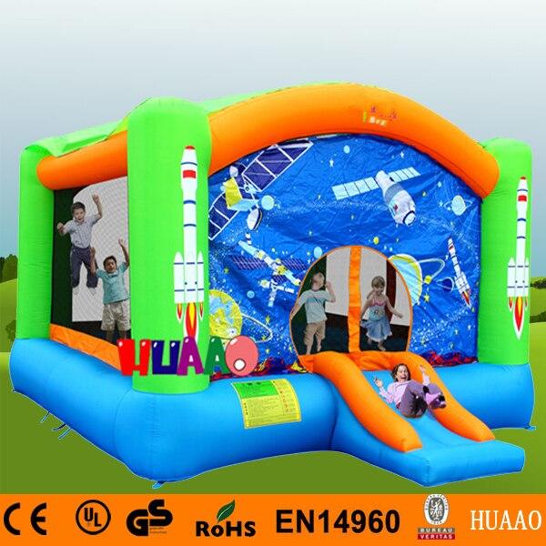 Livraison gratuite 4.7 m espace extérieur gonflable Mini videur toboggan aire de jeux intérieure pour les enfants avec ventilateur CE gratuit