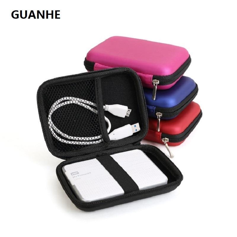 все цены на GUANHE External Hard Drive Disk Portable Zipper Case Bag Pouch Protector For 2.5