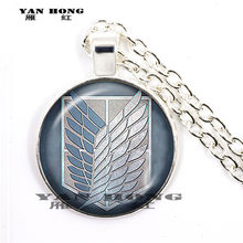 Attacking Titan Levi Akman Glass Pendant Necklace with Jewelry Charm Necklace(China)