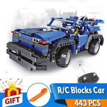 443pcs 2in1 Transform Car Assemble RC Car Build Stacking Blocks Car Kit Track Race Car Set education Toys Gift for children boy