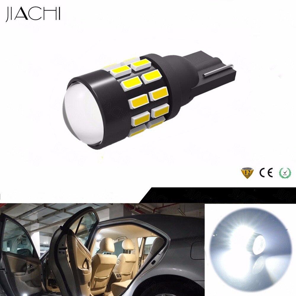 JIACHI 100PCS Wholesale T10 194 168 W5W 501 LED Car Lights Auto Wedge Clearance Lamp Car