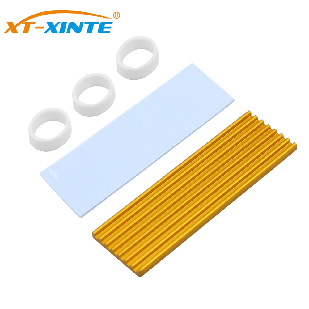 Aluminum M.2 Hard Disk Heatsink Heat Dissipation Radiator Cooling Silicon Therma Pads Cooler for NGFF NVME M2 2280 PCI E SSD|Fans & Cooling|   - AliExpress
