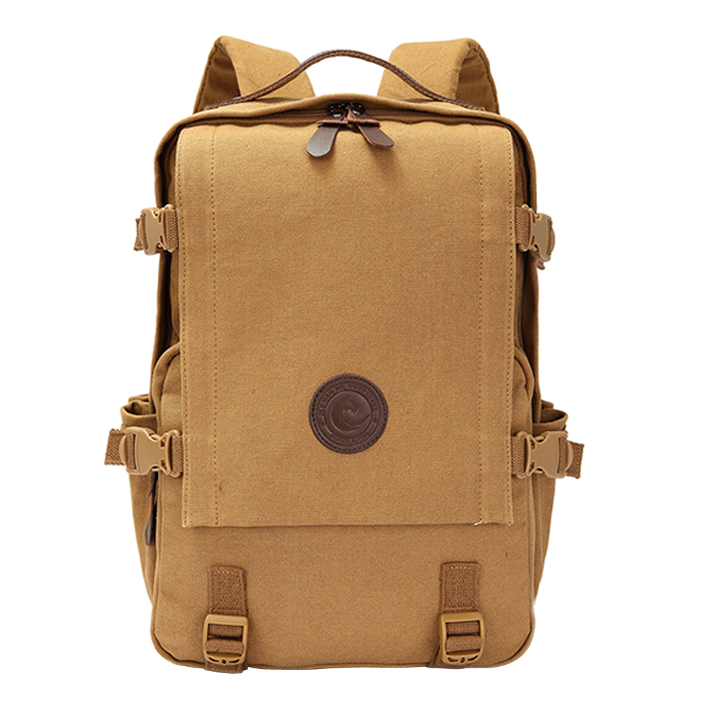 ФОТО  GINGER ACTIVE Vintage Canvas Backpack Male Shoulder Bag Teenagers Vintage Mochila Rucksack Casual Rucksack Travel Daypack