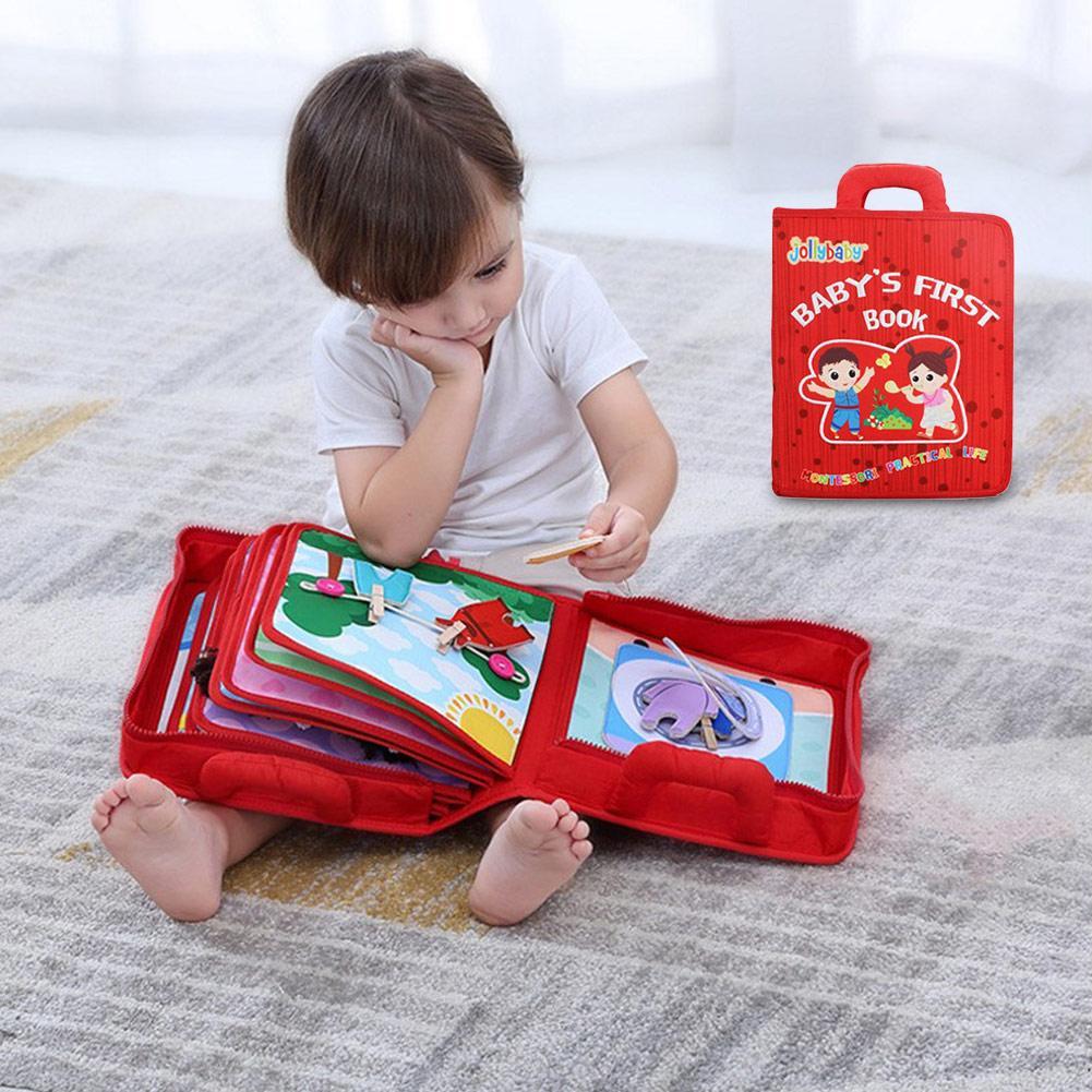 Tissu en tissu RedMontessori pour bébé au début de l'éducation simulent le processus de lessive et de lavage