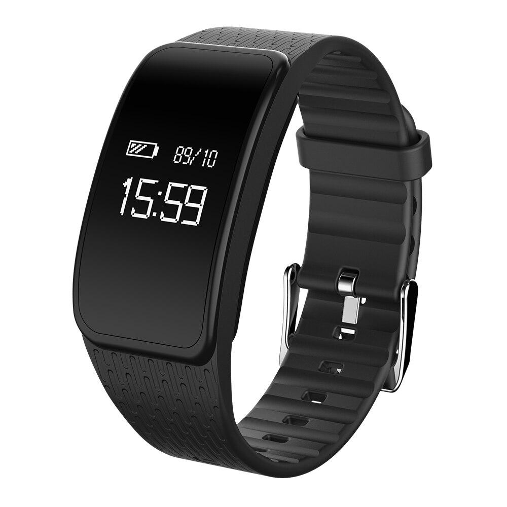 A59 Wasserdichte Blutdruck Herzfrequenz Smart Band Bluetooth Blutsauerstoffsättigung Armbanduhr Intelligente Armband Schrittzähler-in Intelligente Armbänder aus Verbraucherelektronik bei  Gruppe 1