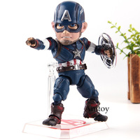 Marvel Avengers Age Action Figures Captain America Beast Kingdom Egg Attack Action EAA 011 6 Inch PVC Hot Toys