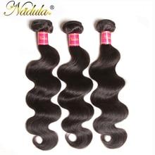 NADULA HAIR 3/4pcs/Lot Malaysian Body Wave Hair Bundles 100% Human Weaves Remy Hair Natural Color Can be Dyed Hair Extensions