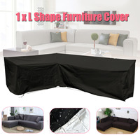 Outdoor Cover Waterproof L Shape Furniture Cover Garden Furniture Sofa Rain Dust Cover Wicker Sofa Set Protection Cover Cloth