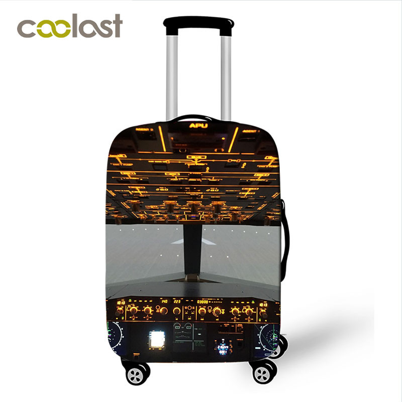 Airplane Design Luggage Cover for 18 32 Inch Trolley Case Bag Aircraft Helicopter Suitcase Protective Covers Travel Accessories in Travel Accessories from Luggage Bags