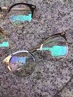 NEW High Quality TB028 Vintage Optical Glasses Frame Alloy Metal Eyeglasses Eyewear Myopia Prescription Glasses