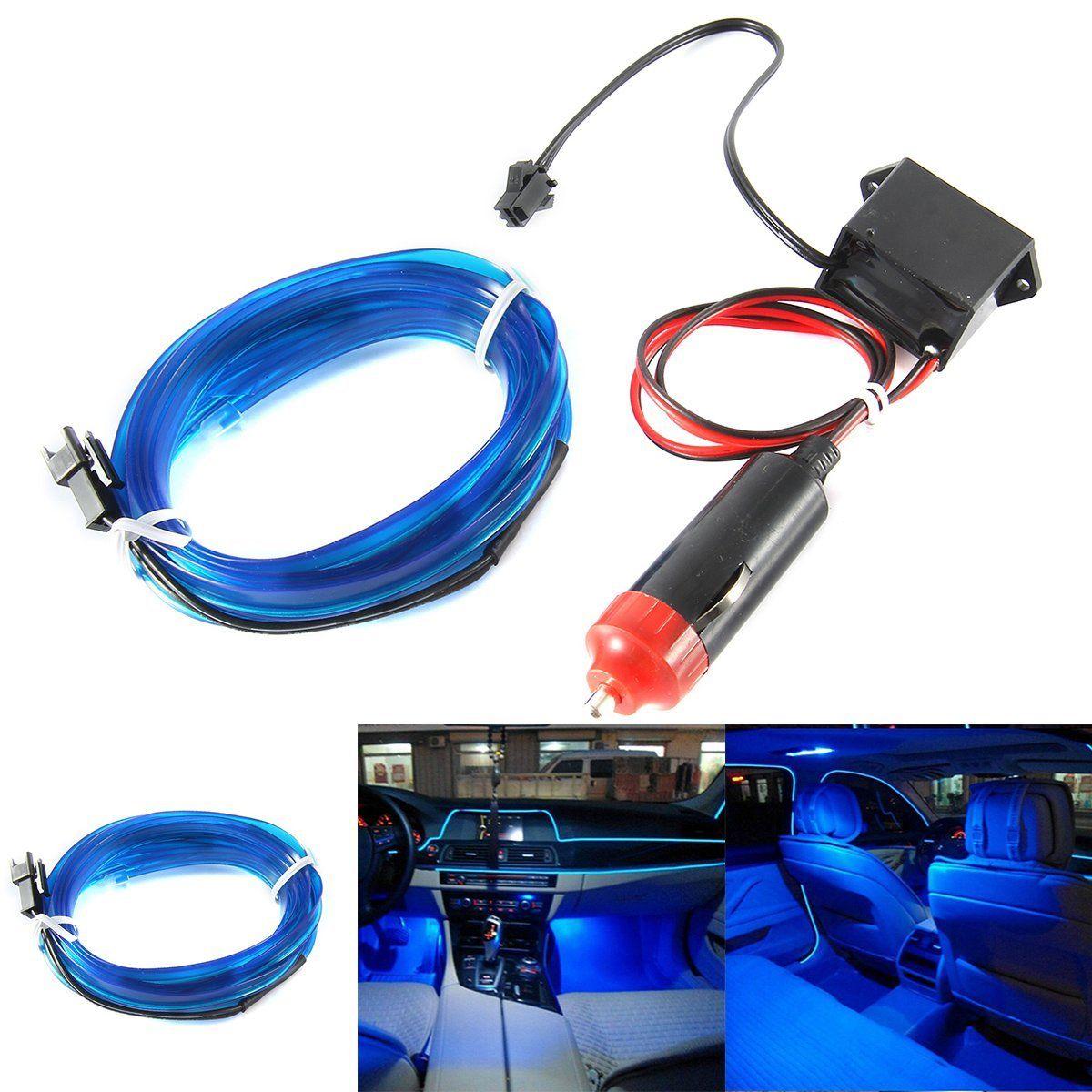 2 Mt Auto LED EL Draht Kalt Licht Glow Interior Flexible ...